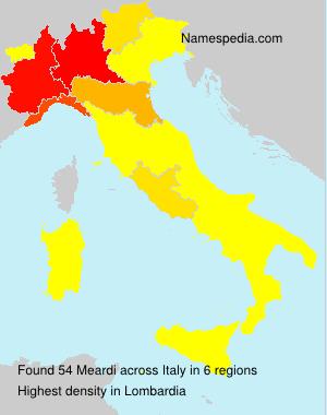 Familiennamen Meardi - Italy
