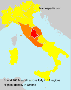 Surname Mearelli in Italy