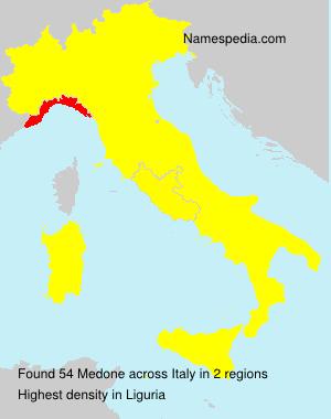 Surname Medone in Italy