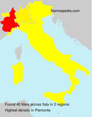Familiennamen Meia - Italy