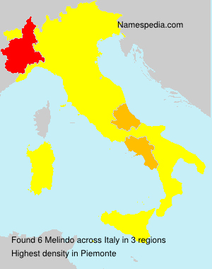 Surname Melindo in Italy