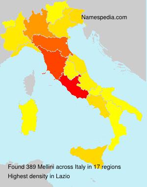 Familiennamen Mellini - Italy
