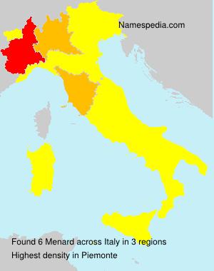 Surname Menard in Italy