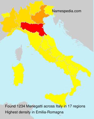 Surname Menegatti in Italy