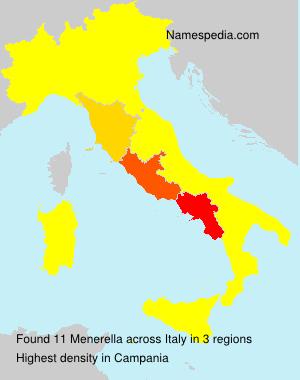 Surname Menerella in Italy