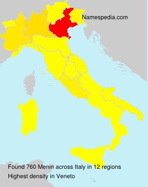 Surname Menin in Italy