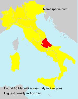 Surname Mennilli in Italy