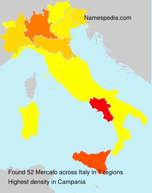 Familiennamen Mercato - Italy