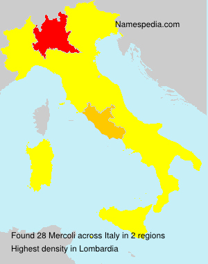 Surname Mercoli in Italy