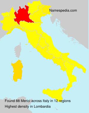 Surname Merici in Italy