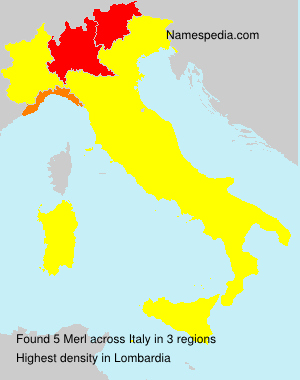 Surname Merl in Italy