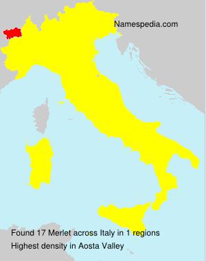 Familiennamen Merlet - Italy