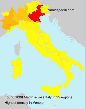 Surname Merlin in Italy