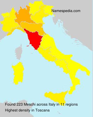 Familiennamen Meschi - Italy