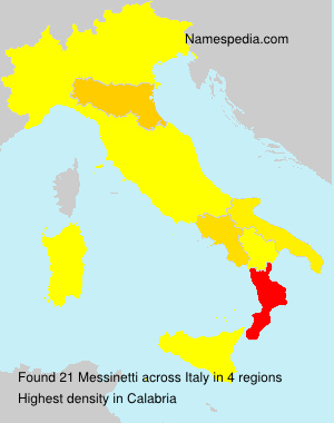 Surname Messinetti in Italy