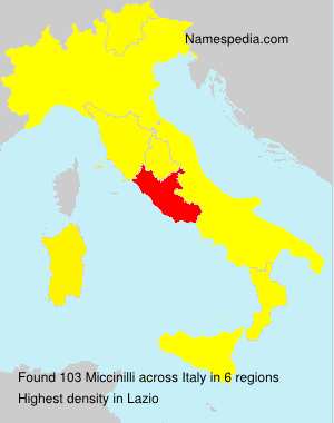 Surname Miccinilli in Italy
