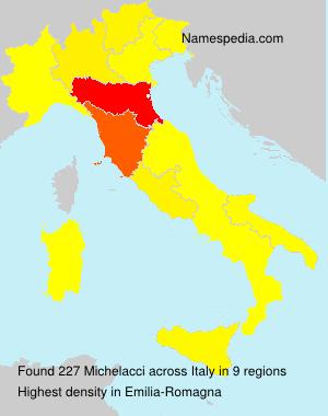 Surname Michelacci in Italy
