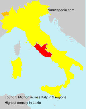 Surname Michon in Italy