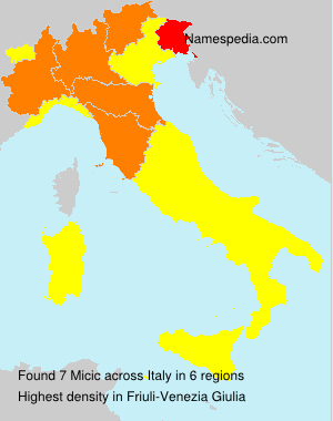 Surname Micic in Italy