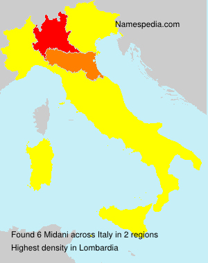 Surname Midani in Italy