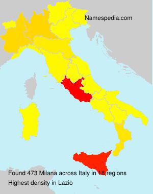 Familiennamen Milana - Italy