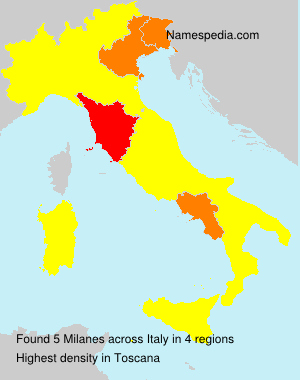 Familiennamen Milanes - Italy
