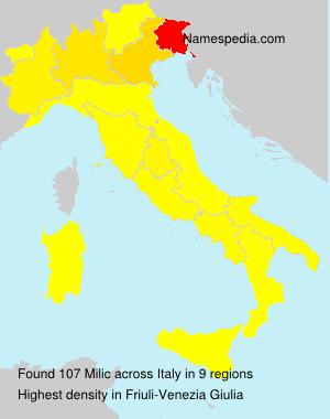 Surname Milic in Italy