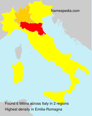Surname Milina in Italy