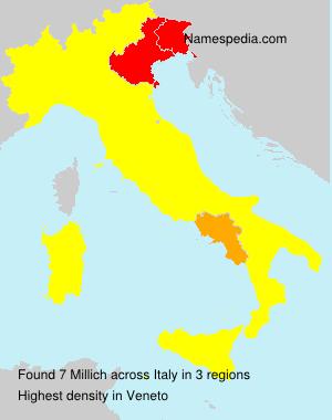 Familiennamen Millich - Italy