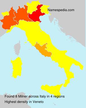 Surname Milner in Italy