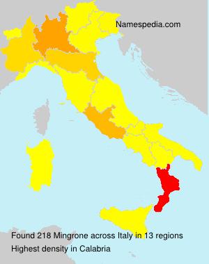 Familiennamen Mingrone - Italy