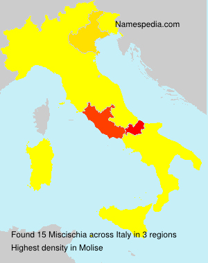 Surname Miscischia in Italy