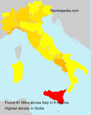 Surname Mitra in Italy
