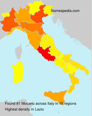 Surname Mocanu in Italy