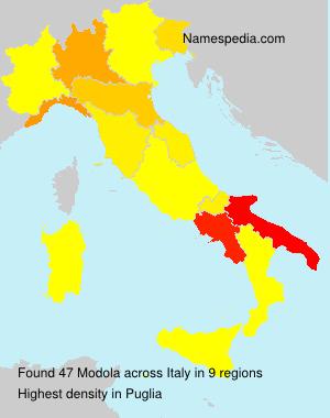 Surname Modola in Italy