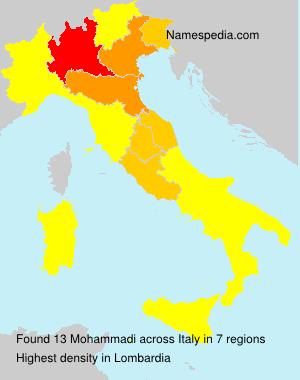 Surname Mohammadi in Italy