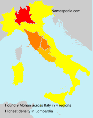 Surname Mohan in Italy