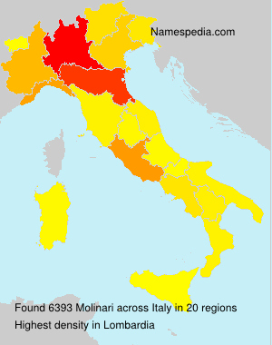 Surname Molinari in Italy