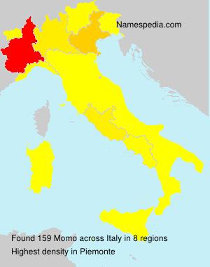 Surname Momo in Italy