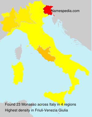 Surname Monasso in Italy