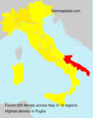 Surname Monno in Italy