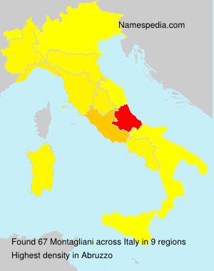Surname Montagliani in Italy