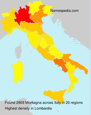 Familiennamen Montagna - Italy