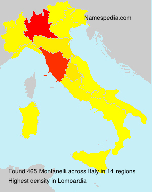 Surname Montanelli in Italy