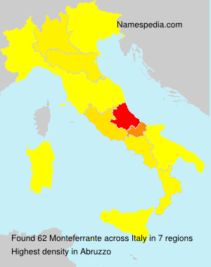 Surname Monteferrante in Italy