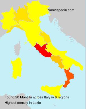 Familiennamen Montilla - Italy