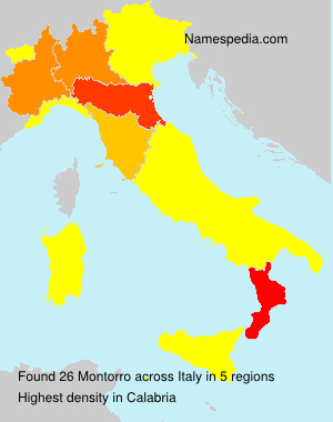 Surname Montorro in Italy