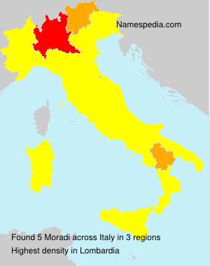 Surname Moradi in Italy