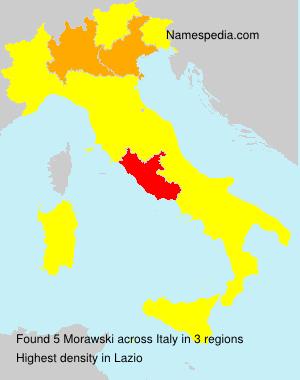 Surname Morawski in Italy
