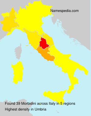 Surname Morbidini in Italy